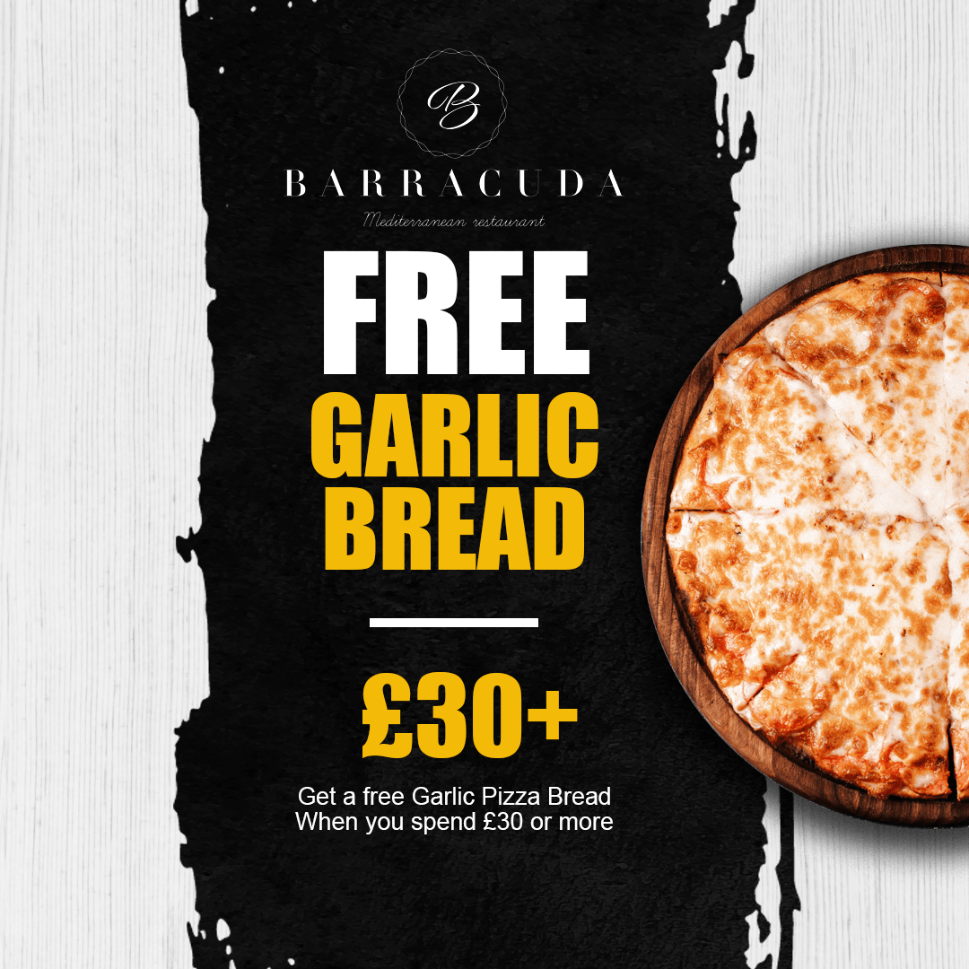 Barracuda Bushey Free Garlic Bread Offer